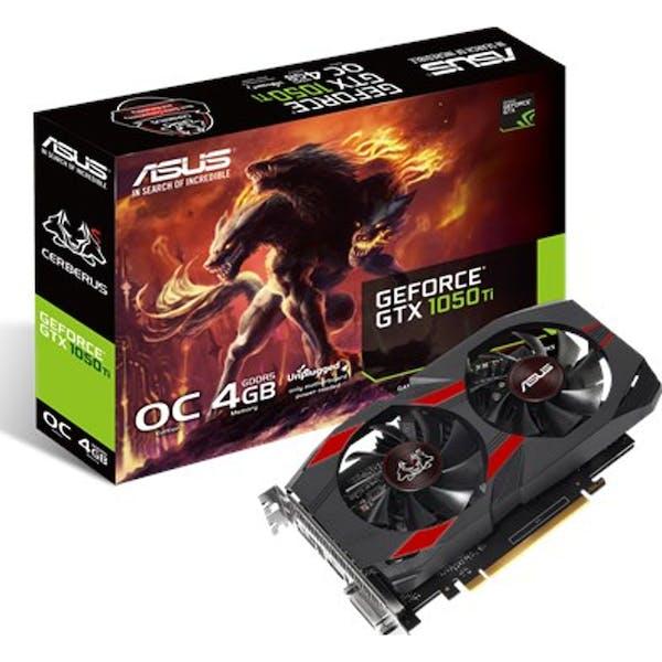 ASUS Cerberus GeForce GTX 1050 Ti OC, CERBERUS-GTX1050TI-O4G, 4GB GDDR5, DVI, HDMI, DP (90YV0A74-M0NA00)_Image_1