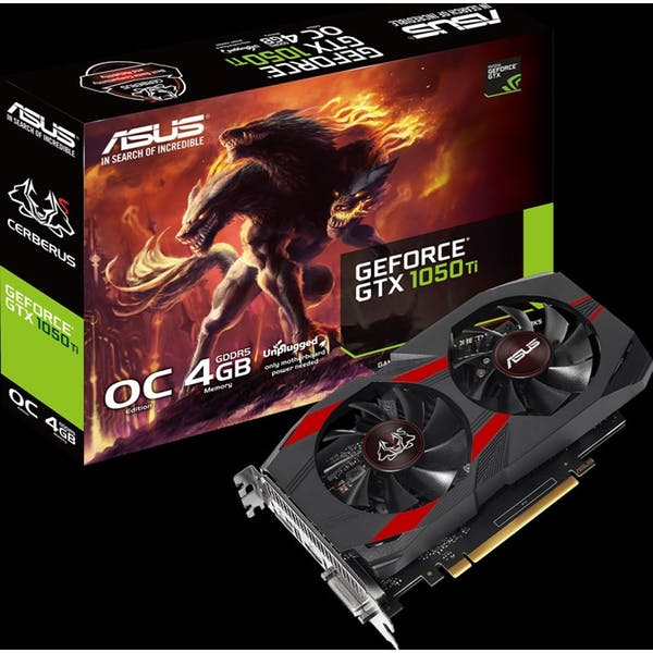 ASUS Cerberus GeForce GTX 1050 Ti OC, CERBERUS-GTX1050TI-O4G, 4GB GDDR5, DVI, HDMI, DP (90YV0A74-M0NA00)_Image_2